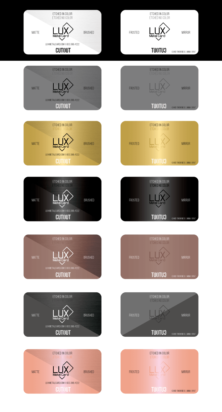 LUX Sample Cards Graphic