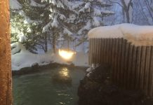 Iroha Onsen Hot Springs Outdoor Bathin Annupuri Village Niseko on LuxNiseko Alpine Luxury Lifestyle Magazine