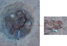 Photo of 3500-year Burial of a Pregnant Woman Discoered in Aswan