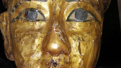 Photo of Gilded Mask on Display for the First Time at the Egyptian Museum