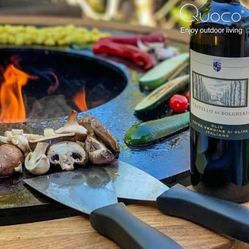 Quoco Piatto Basso Firepit and Plancha Dark Grey 57 2