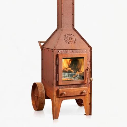 RB73 Bijuga wheels wood stove