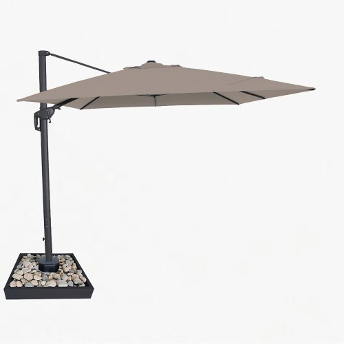 Moonlight 3x4m Cantilever parasol taupe