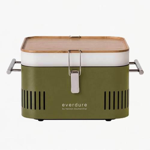 everdure cube portable charcoal bbq khaki