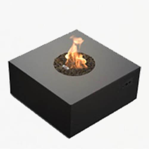 planika galio square fire pit blk