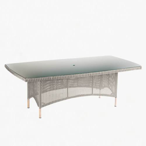 valencia rectangular table 210cm platinum