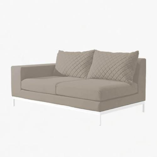 Arctic 2str Sofa left stone white
