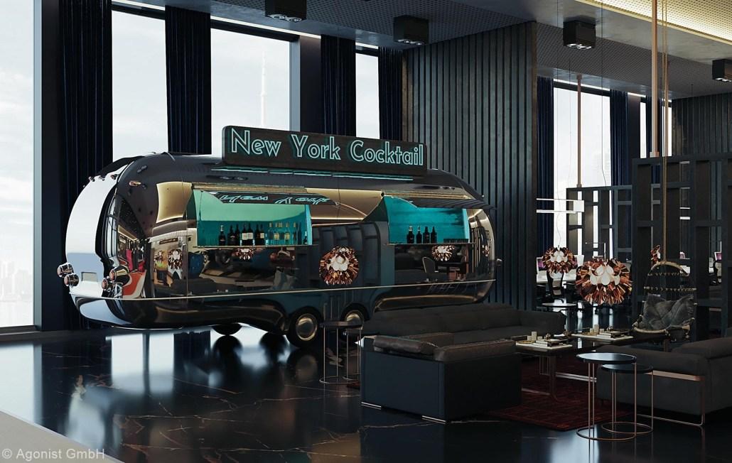New York-Cocktailwagen des MA Living