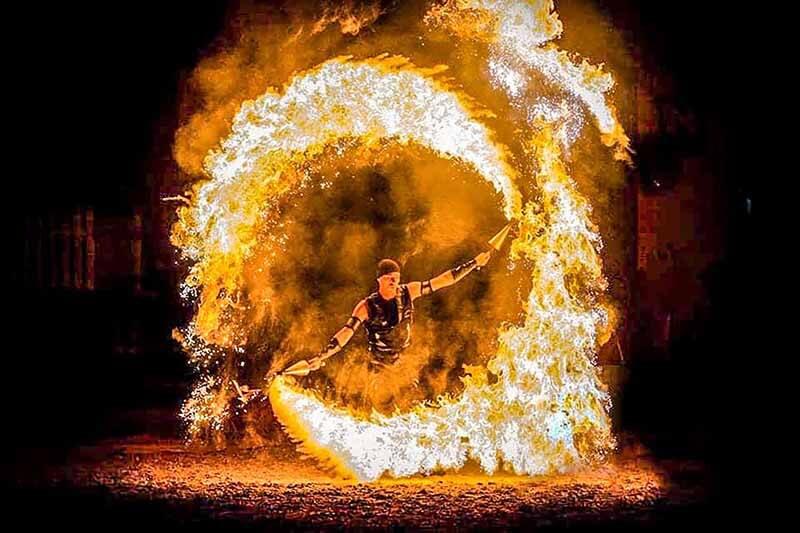Fire Show in Dubai Desert - Luxuria Tours & Events