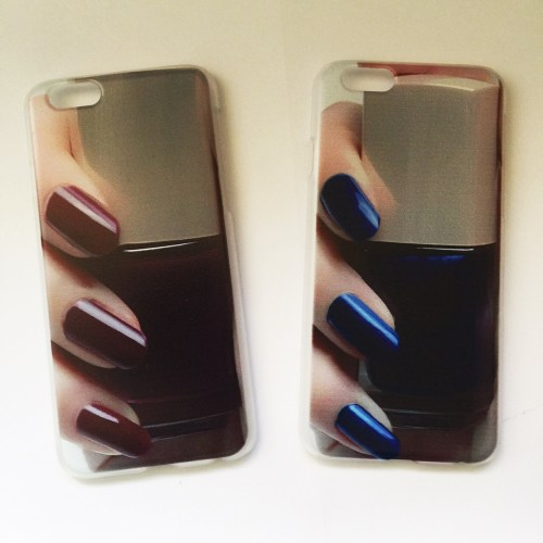 Marble Nail Polish Phone Case: Glitter IPhone Skin Sticker Decal
