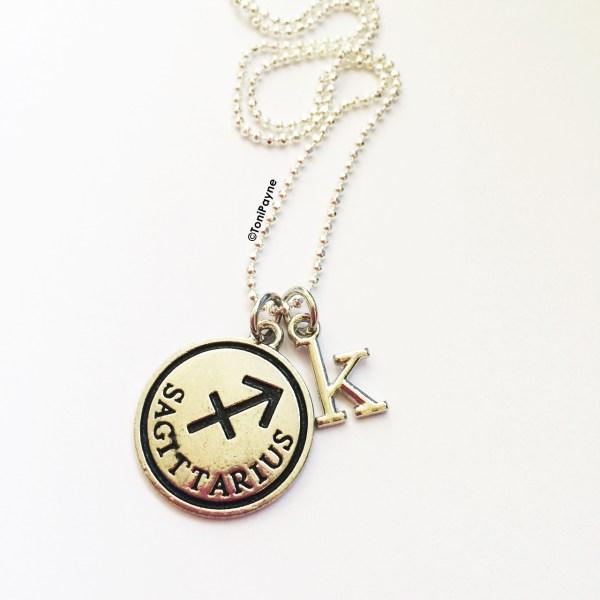 Zodiac Custom Jewelry initial necklac jewelry