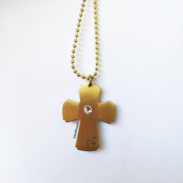 custom initial crucifix