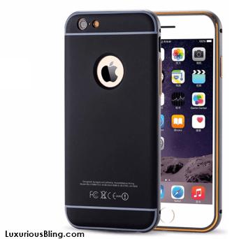black bevel frame iphone case