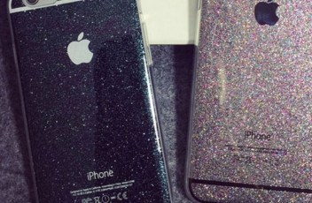 glitter iphone case black