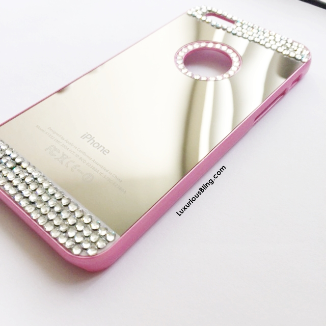pink bling mirror iphone case1