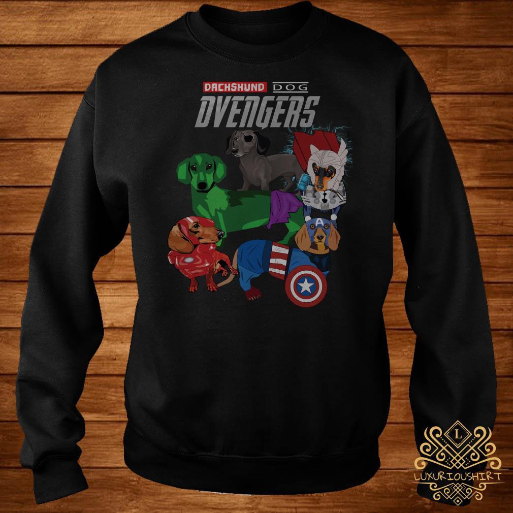 Dvengers Dachshund dog Avengers sweater