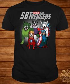 Marvel Avengers Staffordshire Bull Terrier SBTvengers shirt
