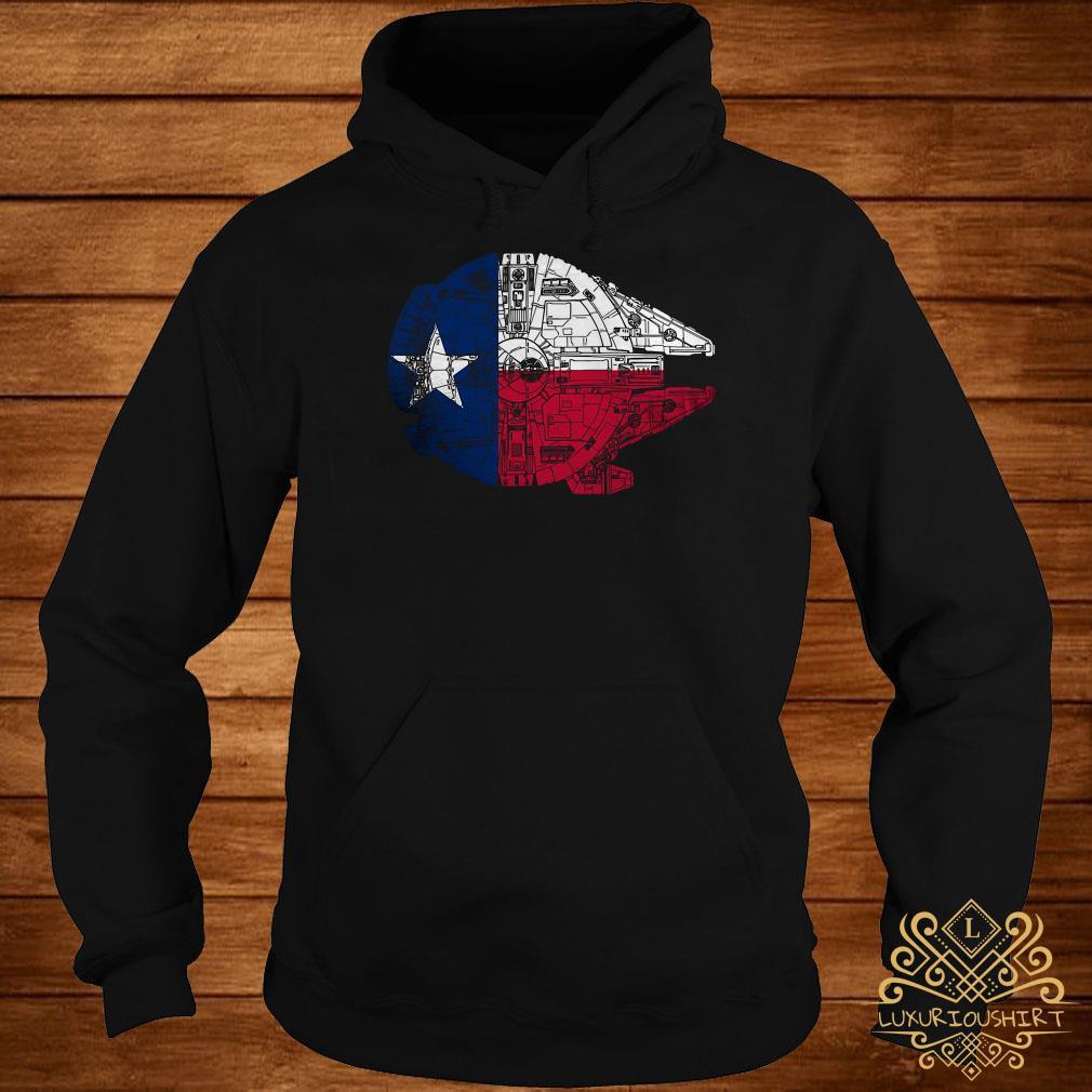 Millennium Falcon lone star falcon made the trip across Texas parsecs hoodie