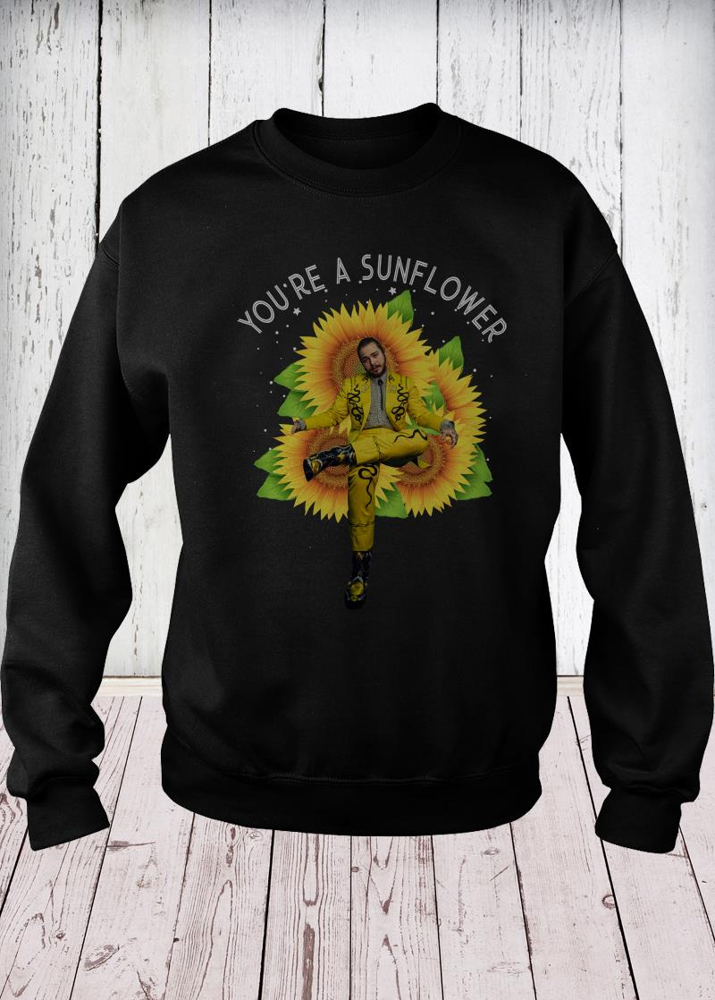 Post Malone you're a sunflower sweater