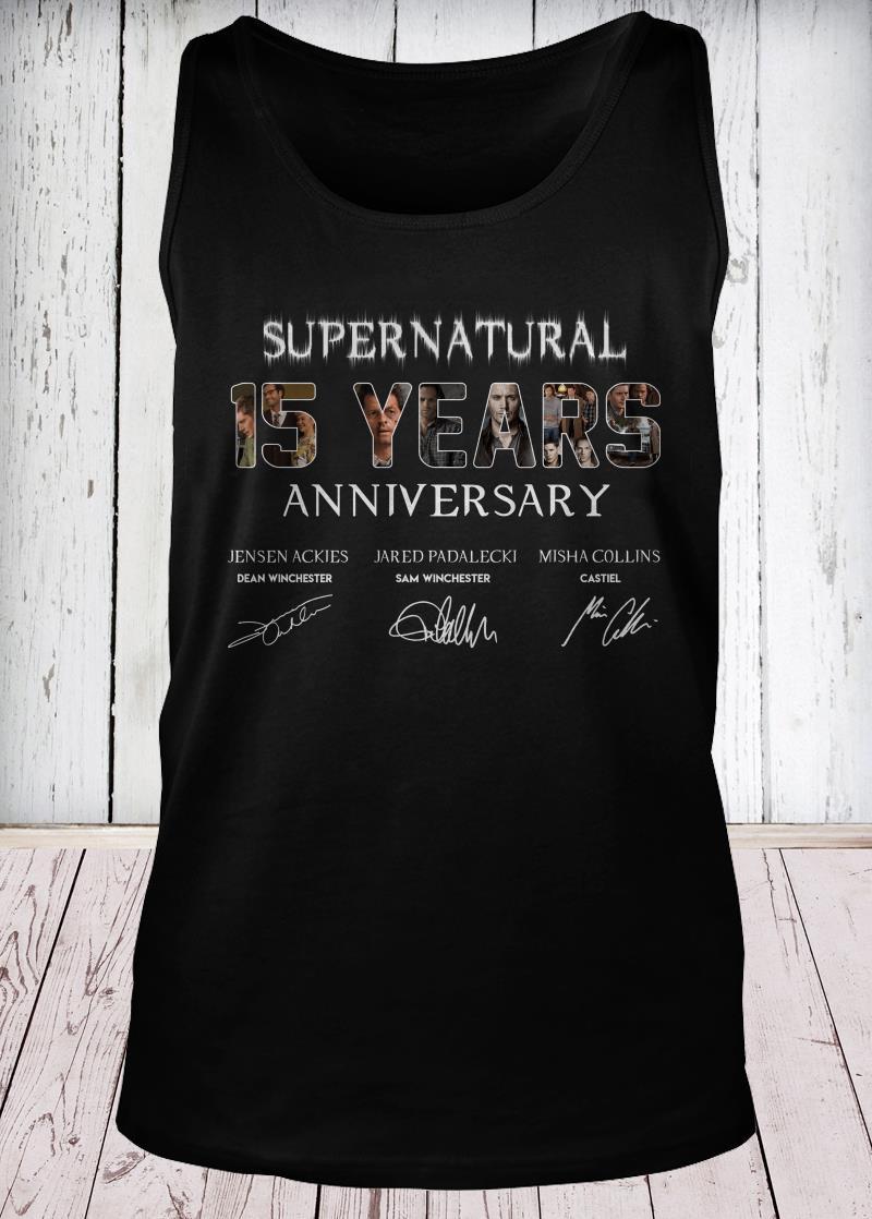 SuperNatural 15 years anniversary tank-top