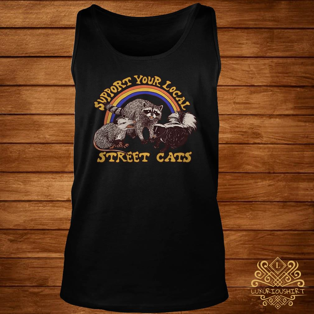 Support your local street cats tank-top