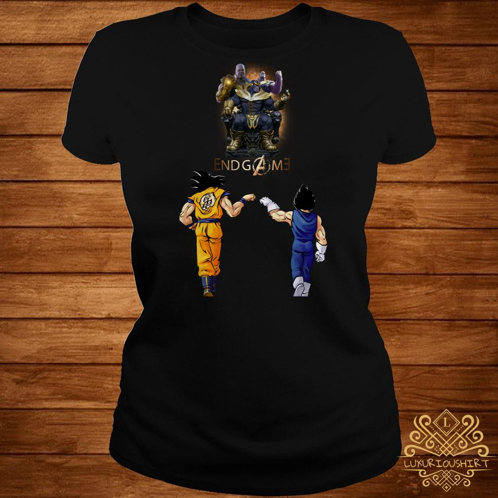 Thanos endgame Goku and Vegeta ladies tee