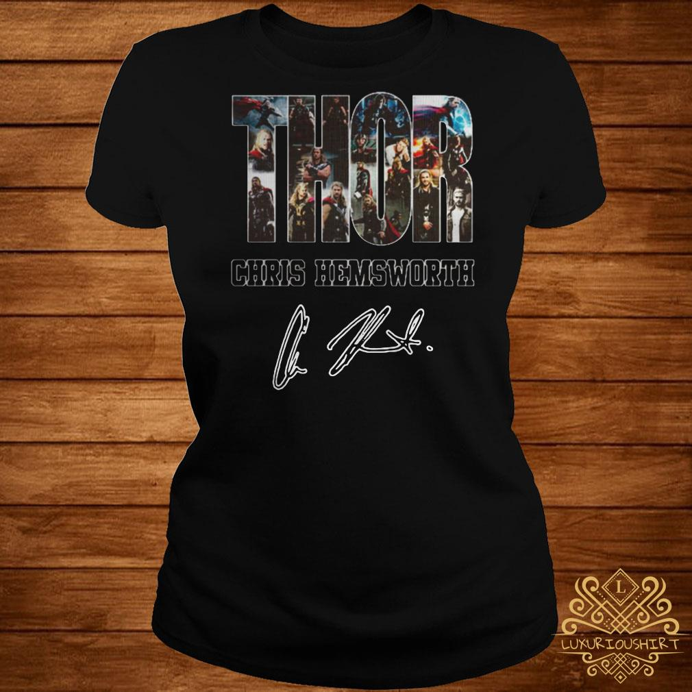 Thor Chris Hemsworth signature ladies tee