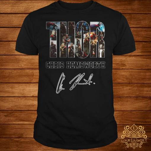 Thor Chris Hemsworth signature shirt