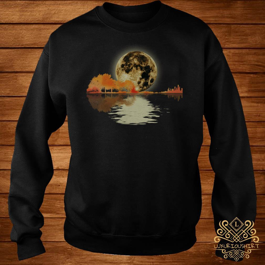 Guitar and moon I love guitar lake shadow sweater