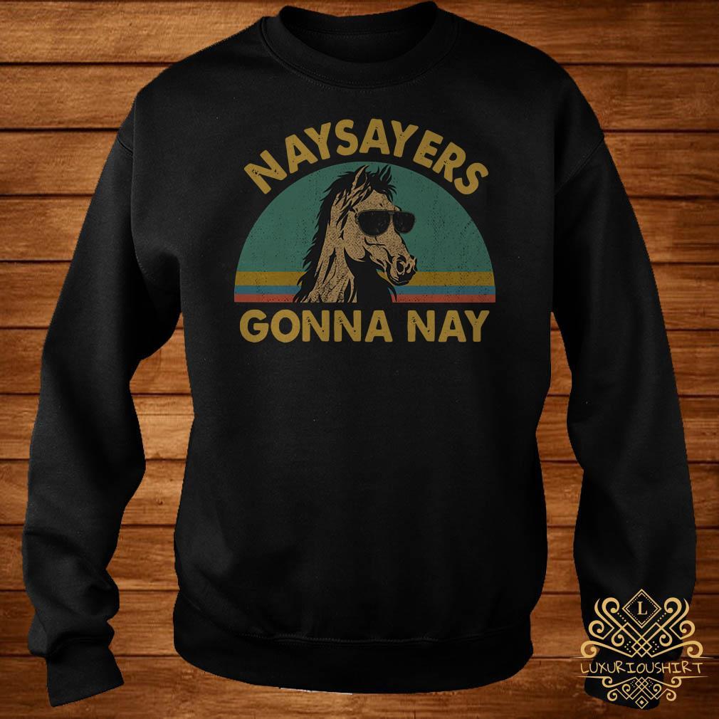 Horse naysayers gonna nay vintage sweater