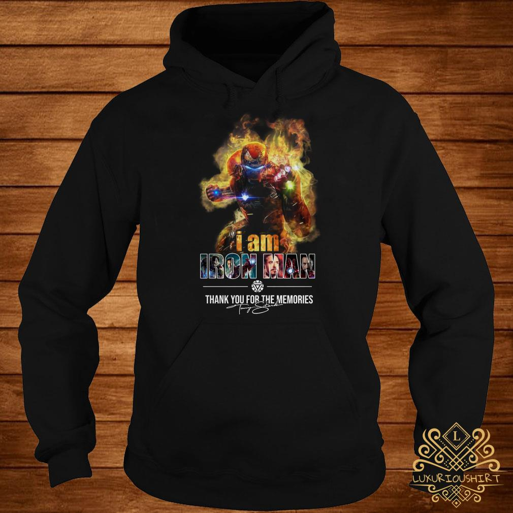 I am Iron Man thank you for the Memories signature hoodie
