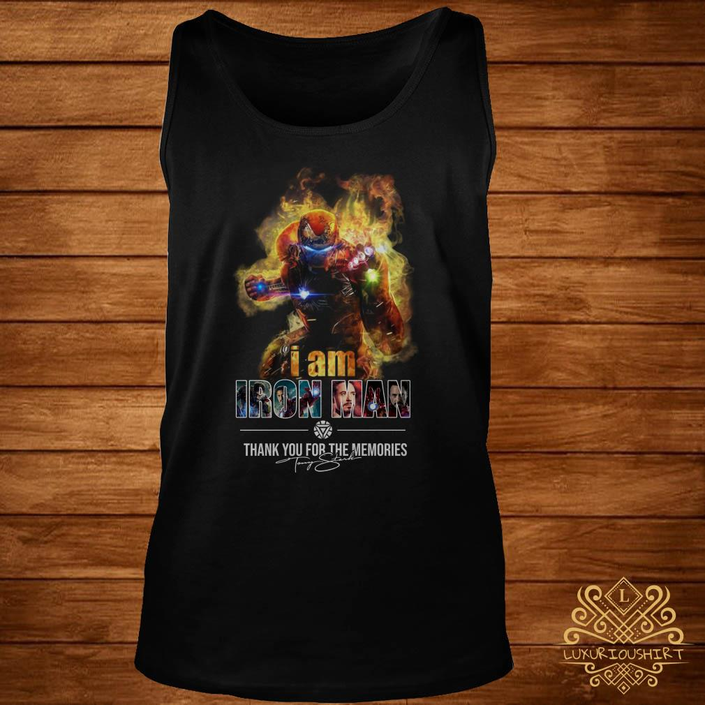 I am Iron Man thank you for the Memories signature tank-top