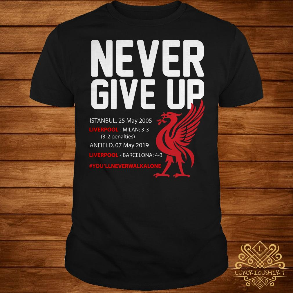 52f79e8216c Liverpool FC Never Give Up shirt