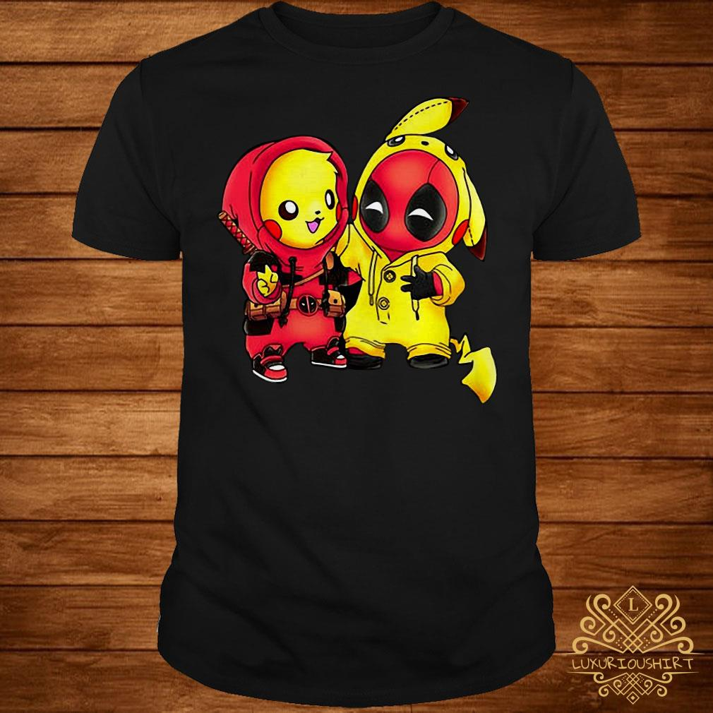 dd971fe8 Pikapool Pikachu Pokemon and Deadpool shirt, sweater, hoodie and ...