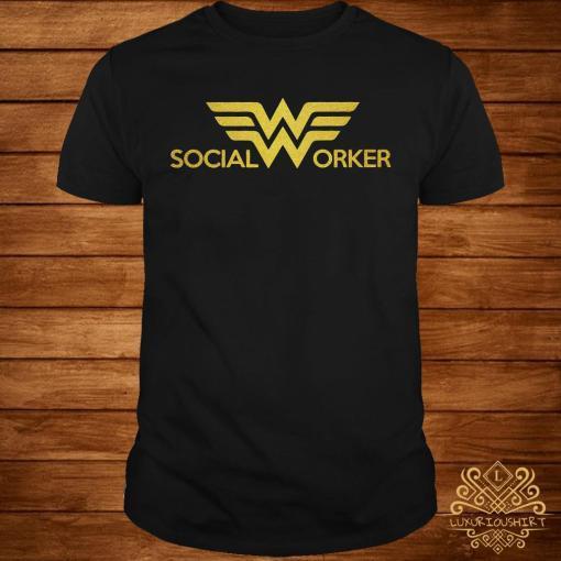 Social worker Wonder Woman logo shirt