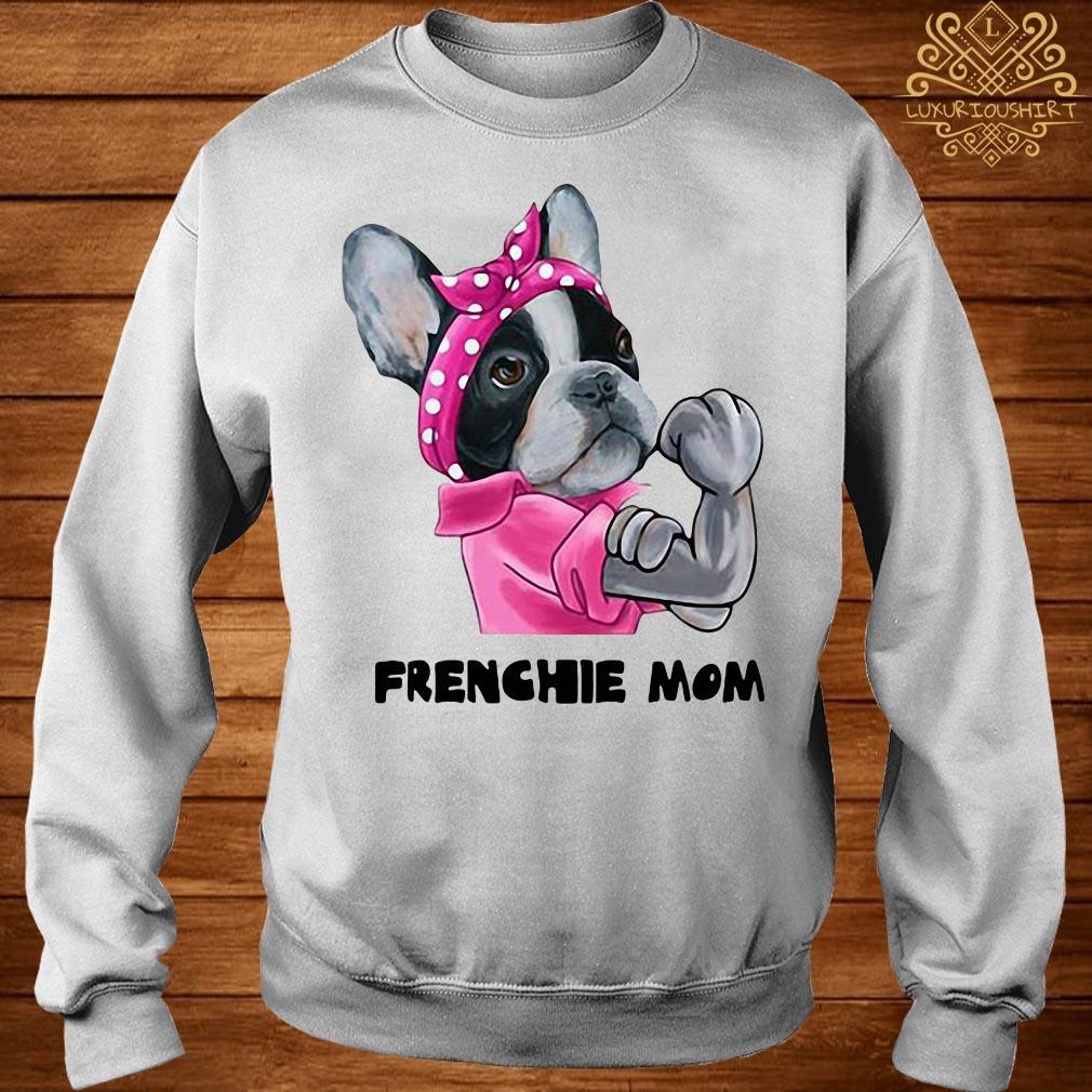 Bandana pink Frenchie mom strong mom sweater
