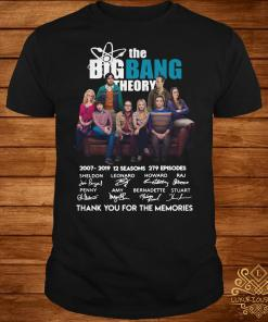 The Bigbang Theory 2007-2019 12 seasons 279 episodes thank you for the memories shirt