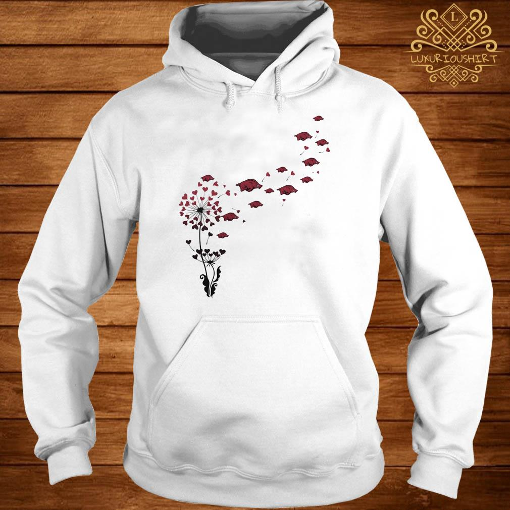 Dandelion heart flowers with boar petal hoodie
