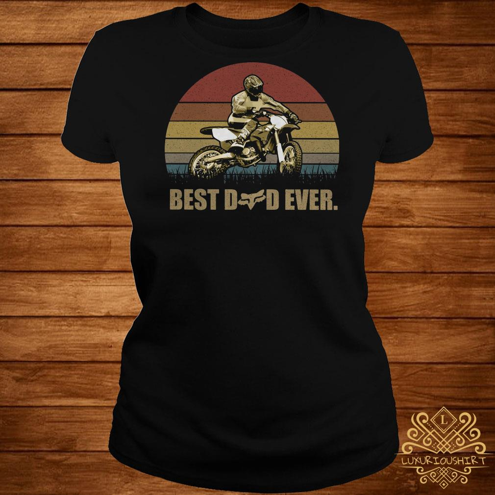 Motor best dad ever vintage ladies tee