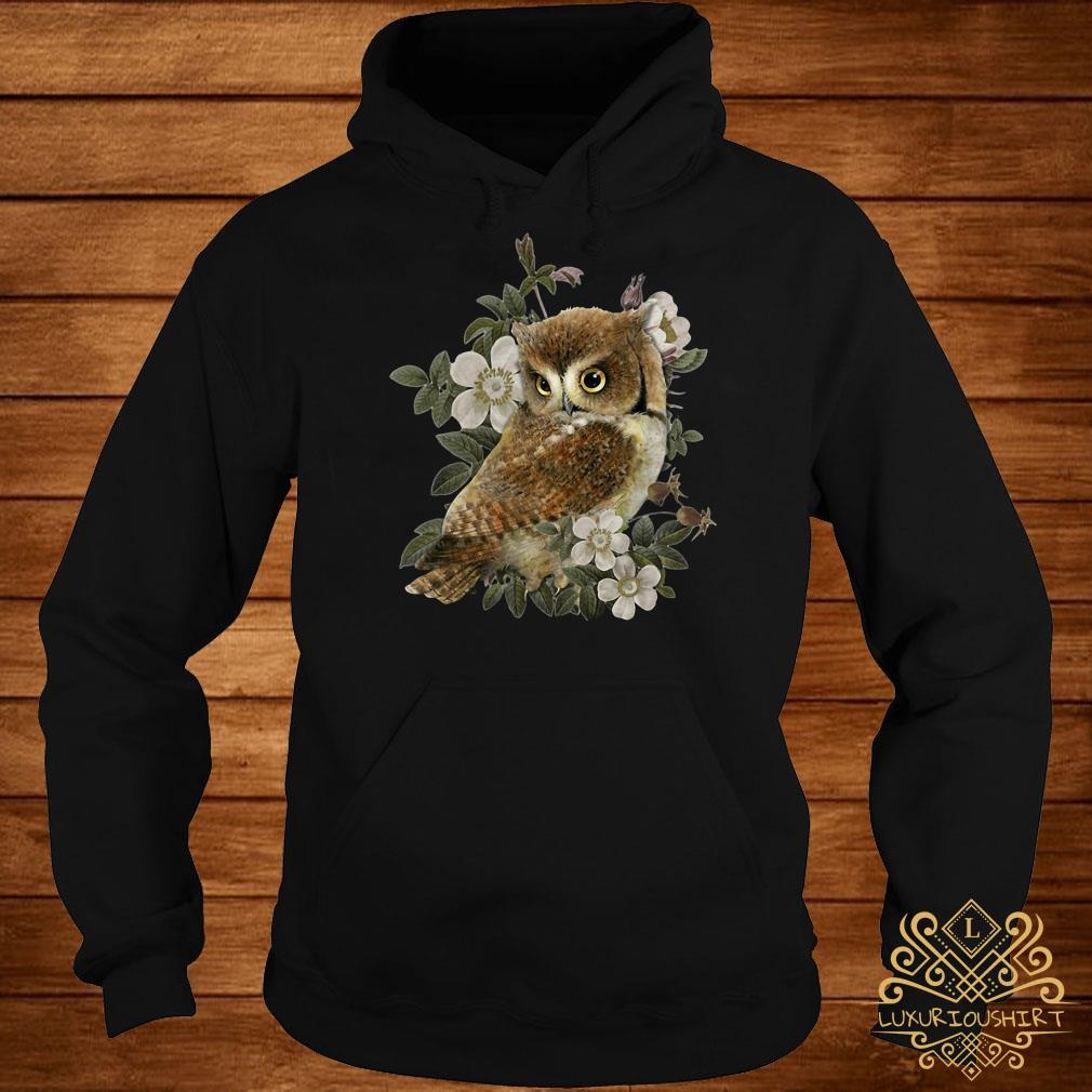 The Owl with flower hoodie