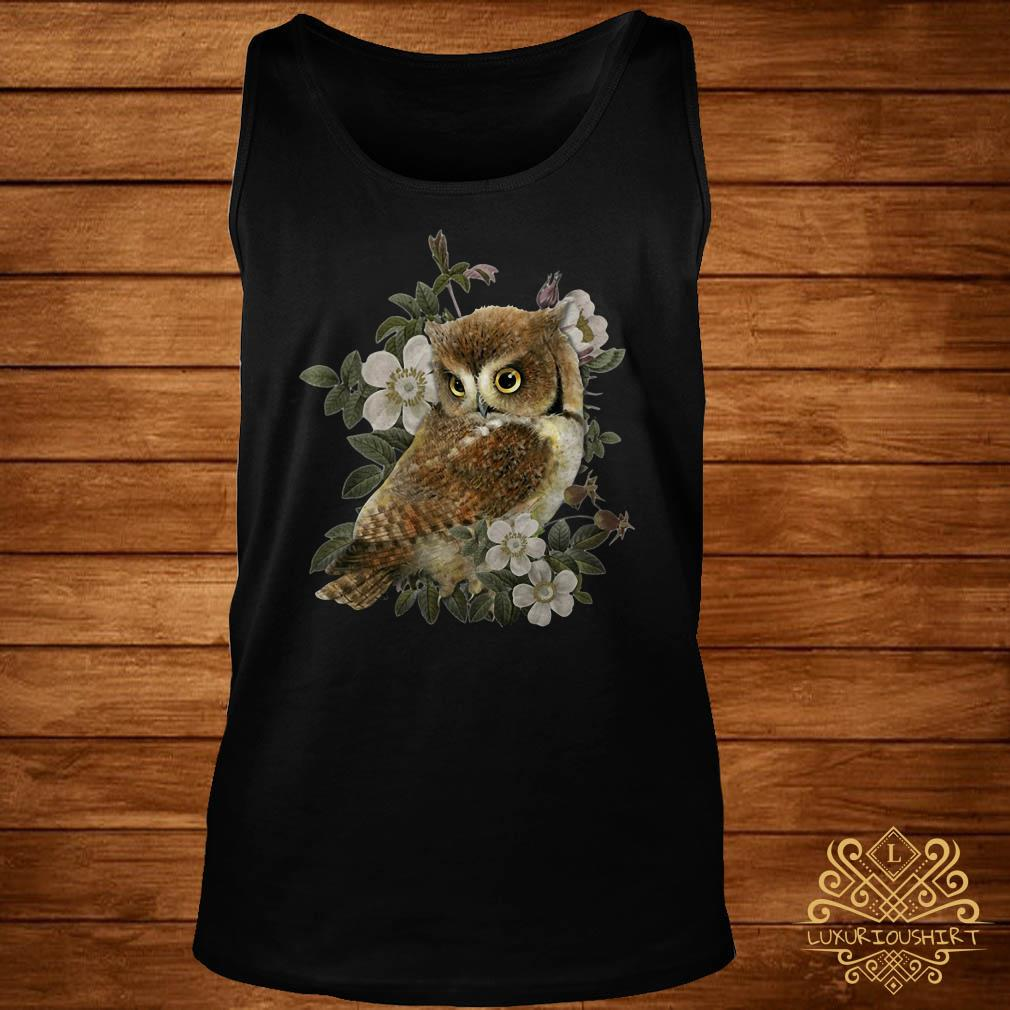 The Owl with flower tank-top