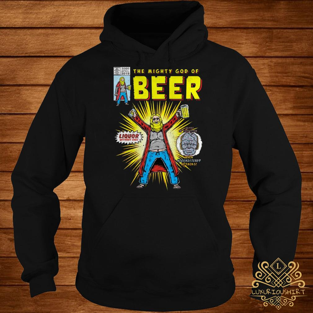 Thor the mighty god of beer hoodie
