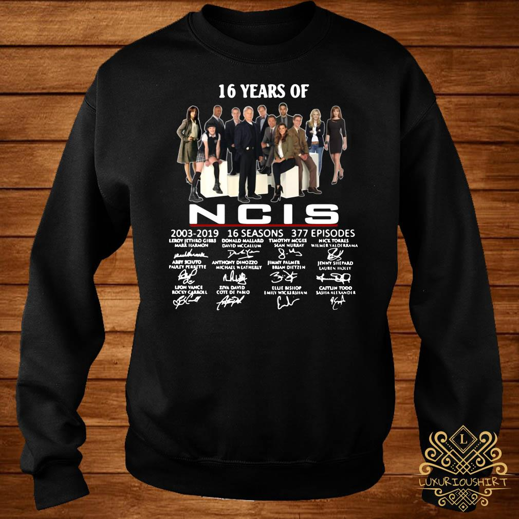 16 years of NCIS 2003-2019 signatures sweater
