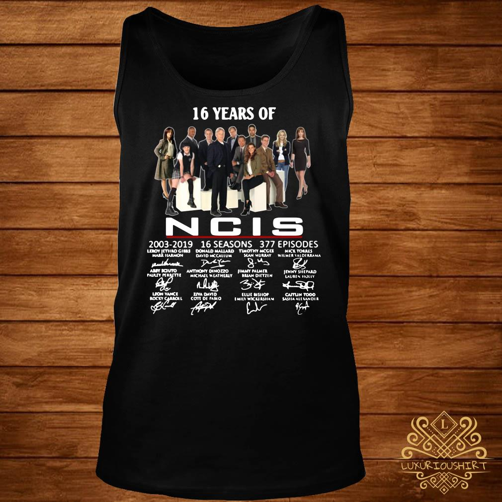16 years of NCIS 2003-2019 signatures tank-top