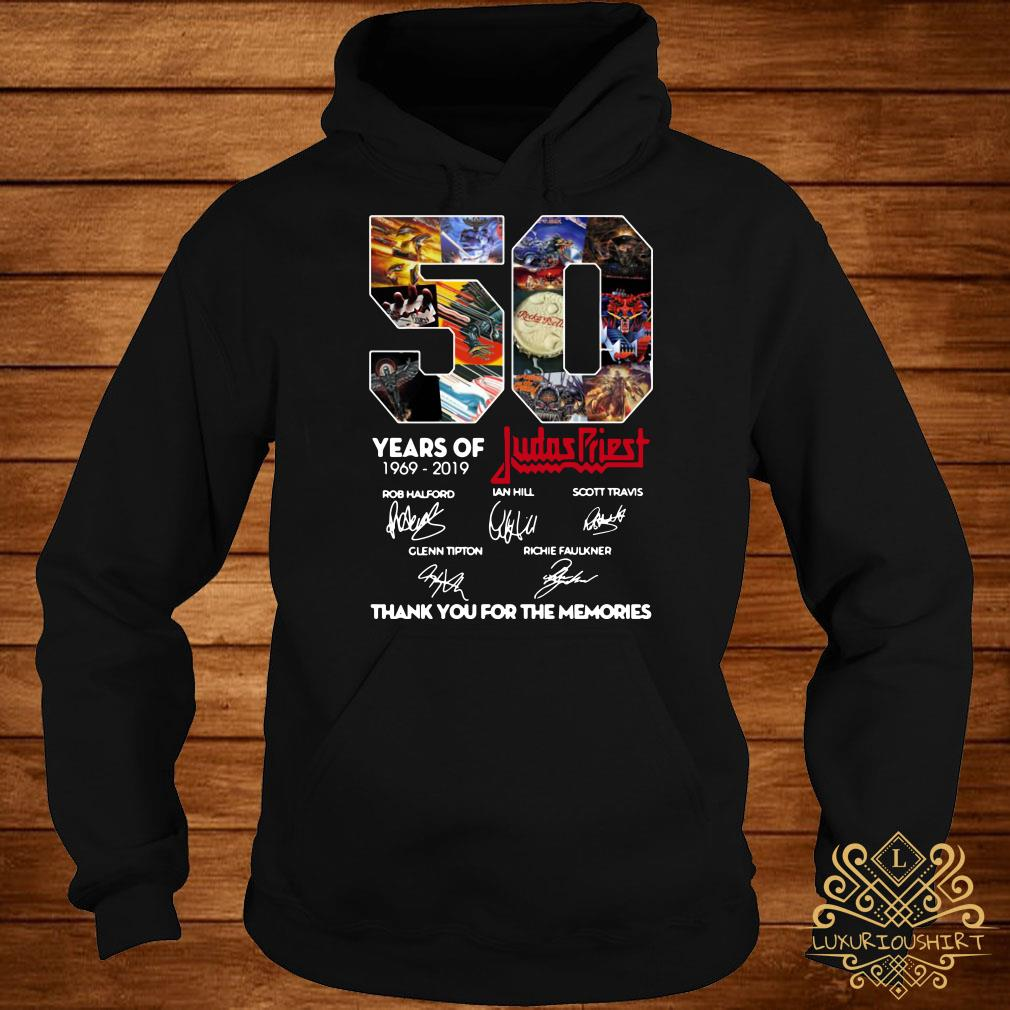 50 Years of Judas Priest 1969-2019 thank you for the memories signature hoodie
