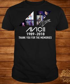 Avicii 1989 2018 thank you for the memories signature shirt