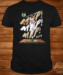 Fanatics Giannis Antetokounmpo 2019 NBA MVP Milwaukee Bucks shirt