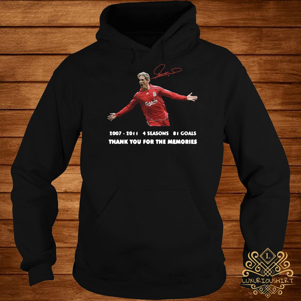 Fernando Torres thank you for the memories signature hoodie