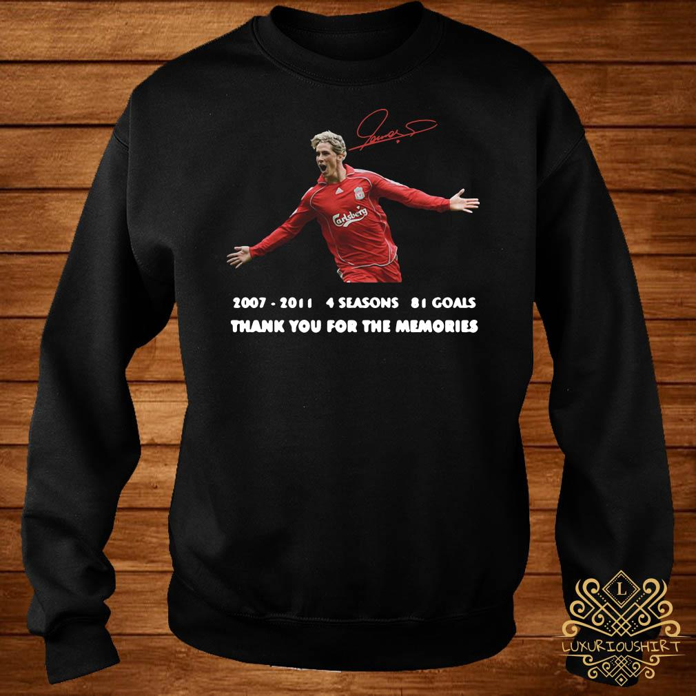 Fernando Torres thank you for the memories signature sweater