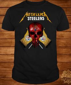 Metallic Pittsburgh Steelers punisher shirt